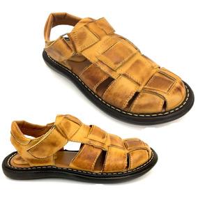 Sandália Chinelo Masculina Couro Confort Macia
