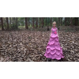 Boneca Em Eva, Princesa De Vestido Rosa