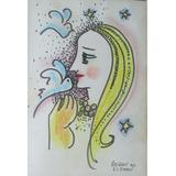Adelson Do Prado - Belo Desenho Em Técnica Mista