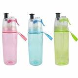 Garrafa Squeeze Spray Borrifador Academia Malha Esporte Agua