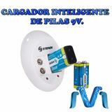 Cargador Inteligente De Pilas 9v . Incluye 2 Pilas 9v