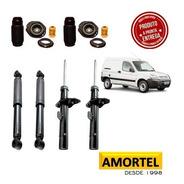 4 Amortecedores + Kits Batentes Do Peugeot Partner  01 /2017