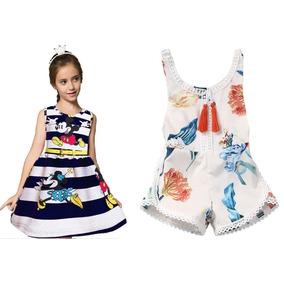 Vestido Minnie Set De 2 Piezas Nina Envio Gratis