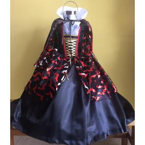 Vestido Disfraz Vampira Halloween Niña Bruja Catrina