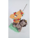 Vela Safári Aniversário Biscuit Leão