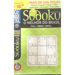 Kit 100 Cruzadas Diretas Coquetel Sudoku Cripto Caça Palavra