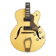Guitarra Electrica Hagstrom Jazz Hj500 Nat Hueca Archtop