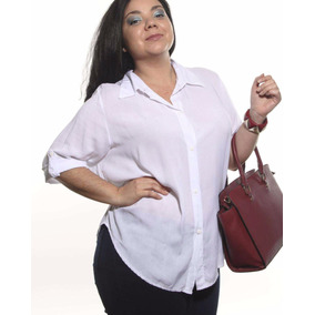 Camisa Fibrana Mangas 3/4 Talles Grandes Reales Ennia