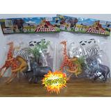Pack 5 Animales Plásticos Con Árbol - Guidopolis