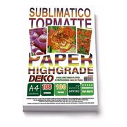 100 Folhas Papel A4 Tratado Resinado Sublimatico Top-matte
