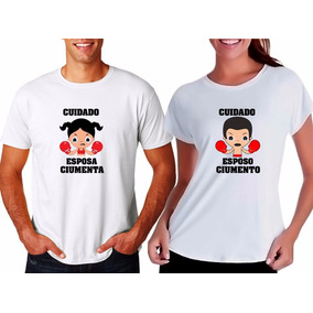 Kit 2 Camisetas Casal Esposo Esposa Marido Casamento Casados. R  49 90 8f42cdc5740ac