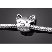 Pingentes Charm De Prata 925 Pandora - Gatinho Kit 2 Peças