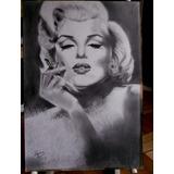 Marilyn Monroe Retrato A Lapiz