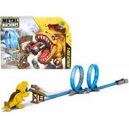 Pista De Autos Dino T-rex Attack + Auto Metal Machines Full