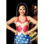 Polera Mujer Maravilla Dc Superheroes