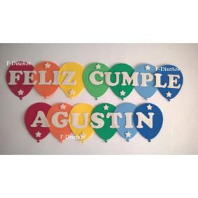 Cartel Guirnalda Feliz Cumple Cumpleaños Con Nombre Goma Eva