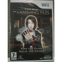 Cate West: Os Arquivos De Fuga Nintendo Wii Pal Lacrado Raro