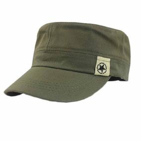 Boné Estilo Quepe Militar Unissex - Preto E Verde 79d78fff646