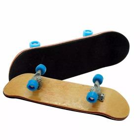 Skate Dedo Fingerboard Profissional Madeira Sem Rolamento
