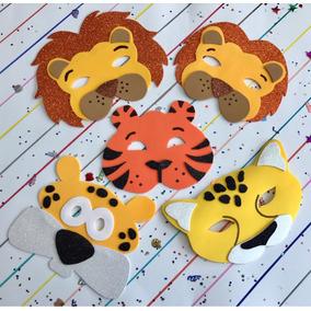 Mascara En Fomi Foami Fomy León Leona Tigre Leopardo Jaguar