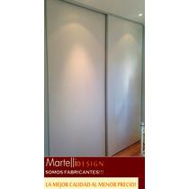 Frente De Placard Mel. Blanca 1.86x2.50/1.46x2.00+ Interior