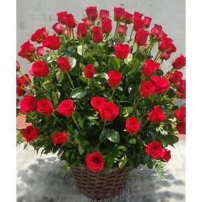 Arreglos Florales Canasta 100 Rosas Rojas Envio Gratis Cdmx