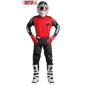 Traje Moto Cross Kit Pantalon + Jersey + Guantes Rojo Honda