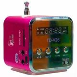 Kit Com 20 Minis Caixas Caixinhas Sons Td-v26 Mp3 Fm Sd Usb