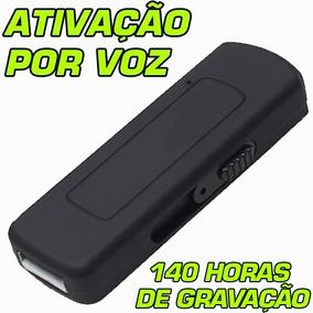 Mini Gravador Audio Grava Até 140 Horas Pen Drive Espiao