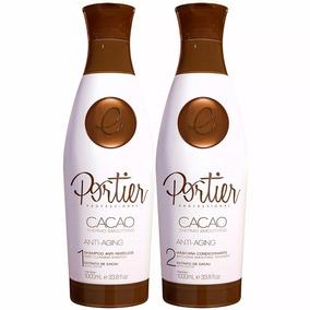 Cacao Portier Fine Cosméticos Escova Progressiva 2 Passos 1l