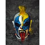 Mascara De Luchador Psycho Clown Wolverine P/adulto Latex