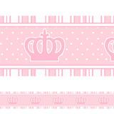 Adesivo Decorativo Faixa Infantil Coroa Princesa Rosa