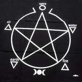 Toalha Pentagrama Preta P/ Altar E Tarô 70cm