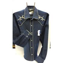 Camisa Vaquera Reno Mezclilla Espuela De Oro