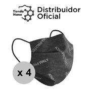 Barbijo Atom-protect Conicet Negro Con Clip Nasal Promo X 4