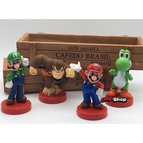 Super Mario Collection Kit/com 4 Personagens 4 Bonecos