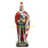 Escultura Ogum De Ronda Imagem 45cm Estatua Gesso Umbanda Ml
