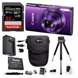 Cámara Digital Canon Powershot Elph 360 Hs (púrpura) Con Ta