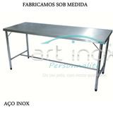 Mesa Inox Para Manipulação Alimento 200x70x80 Cm - 01 Divis