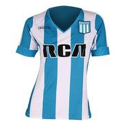 Camiseta Futbol Racing Club 2017 Stadium Ce/bl/ng Kappa Muje