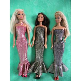 Roupinhas Para Barbie Kit Com 6 Peças Com Frete Gratis