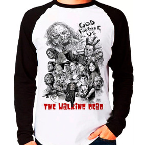 Camiseta Blusa Raglan Longa The Walking Dead Twd Walkers