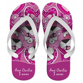 Chinelo Infantil Pantera Cor-de-rosa Kit Com 20 Pares