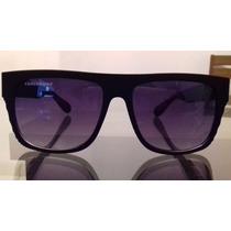 Óculos De Sol Preto Fosco Masculino + Estojo Promoção