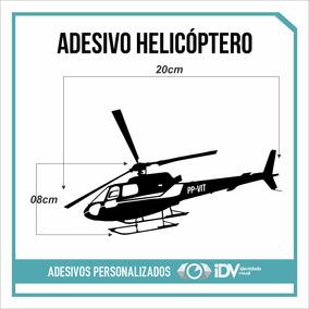 Adesivo Helicóptero Recorte Eletrônico Mod. Esquilo As350