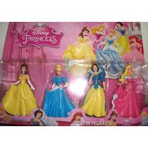 Kit 4 Bonecas Princesas Disney Bela Ariel Cinde Neve Aurora