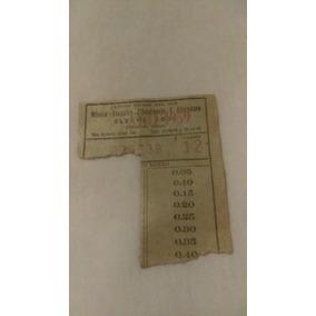 Boleto De Autobús Del Año 1959