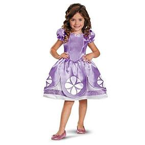 Disfraz De Princesa Sofia Para Niña Talla M - Morado