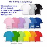 Kit 10 Camisas Infanto Juvenil - Fio 30. -100% Algodão Cores 83a8c084492d9