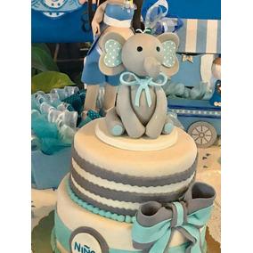 Cake Topper Elefantito Para Pastel Baby Shower